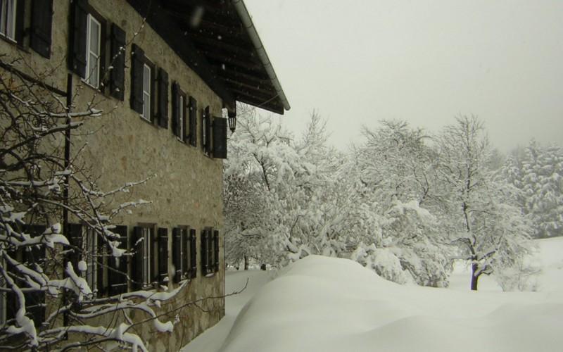Aenanenhütte im Winter